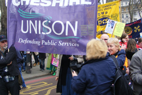 West Cheshire UNSON campaign defending public services